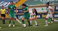 BOGOTA -COLOMBIA,12-11-2020:La Equidad y Llaneros  en partido por la fecha 8 de la Liga femeina BetPlay DIMAYOR I 2020 jugado en el estadio Metropolitano de Techo  de la ciudad de Bogotá. /La  Equidad and Llaneros in match for the date 8 BetPlay DIMAYOR women´s  League I 2020 played at Metropolitano stadium in Bogota city. Photo: VizzorImage/ Felipe Caicedo / Staff