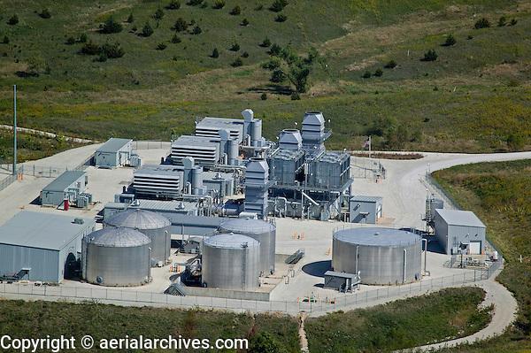 aerial photograph Iowa power plant