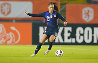BREDA, NETHERLANDS - NOVEMBER 27: Alex Morgan #13 of the United States moves with the ball during a game between Netherlands and USWNT at Rat Verlegh Stadion on November 27, 2020 in Breda, Netherlands.