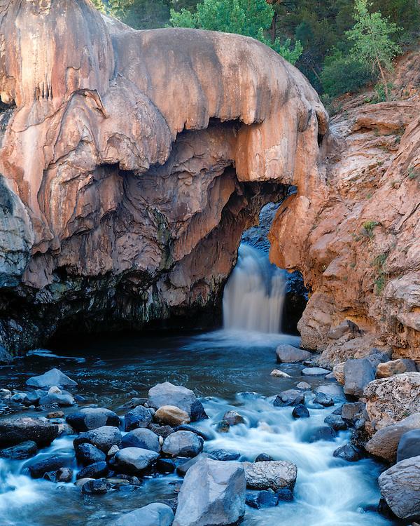 The waterfall at Soda Dam in the Jemez Mountains; Jemez Springs, NM