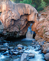 The waterfall at Soda Dam in the Jemez Mountains; Jemez Springs, NM