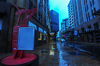 Lambton Quay, Wellington CBD at 7.30am, Wednesday during Level 4 lockdown for the COVID-19 pandemic in Wellington, New Zealand on Wednesday, 18 August 2021.