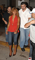 MIAMI BEACH, FL - JUNE 14, 2006: (EXCLUSIVE COVERAGE)  Eve leaves a Miami nightclub on June 14, 2006 in Miami Beach, Florida<br /> <br /> <br /> People:  Eve