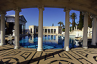 The swimming pool at Patrick Hearsts San Simion castle in California, USA. Worlds most expensive private real estatate