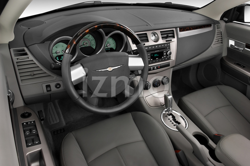 2008 Chrysler Sebring Convertible High angle dashboard view Stock Photo