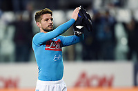 Dries Mertens of Napoli celebrates at the end of the match <br /> Parma 24-02-2019 Ennio Tardini <br /> Football Serie A 2018/2019 Parma - Napoli <br /> Foto Image Sport / Insidefoto