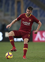 Football, Serie A: AS Roma - Genoa, Olympic stadium, Rome, December 16, 2018. <br /> Roma's Bryan Cristante in action during the Italian Serie A football match between Roma and Genoa at Rome's Olympic stadium, on December 16, 2018.<br /> UPDATE IMAGES PRESS/Isabella Bonotto