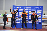 SPEEDSKATING: SALT LAKE CITY: Utah Olympic Oval, 09-03-2019, ISU World Cup Finals, Podium 5000m Men, Marcel Bosker (NED), Patrick Roest (NED), Ted-Jan Bloemen (CAN), ©Martin de Jong