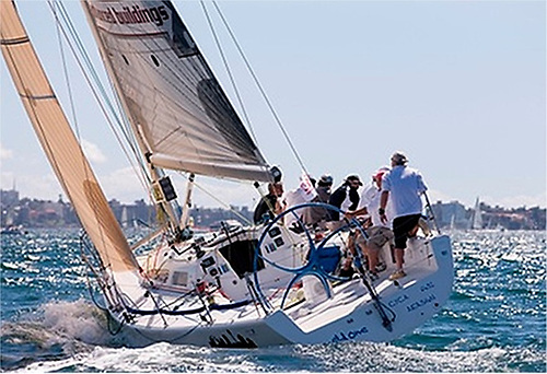 The Sydney 38 OD Wild One going sweetly in home waters