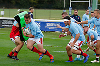 Kyle Whyte of London Scottish during the Championship Cup match between London Scottish Football Club and Nottingham Rugby at Richmond Athletic Ground, Richmond, United Kingdom on 28 September 2019. Photo by Carlton Myrie / PRiME Media Images