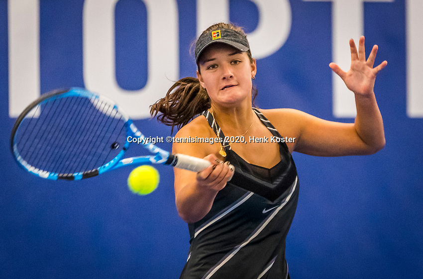 Amstelveen, Netherlands, 17  December, 2020, National Tennis Center, NTC, NK Indoor, National  Indoor Tennis Championships,   : Merel Hoedt (NED) <br /> Photo: Henk Koster/tennisimages.com
