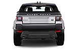 Straight rear view of 2016 Land Rover Range Rover Evoque HSE 5 Door Suv Rear View  stock images