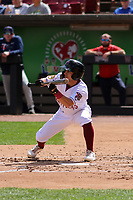 Wisconsin Timber Rattlers outfielder Sal Frelick (17) lays down a bunt during a game against the Cedar Rapids Kernels on September 8, 2021 at Neuroscience Group Field at Fox Cities Stadium in Grand Chute, Wisconsin.  (Brad Krause/Four Seam Images)