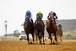 AUGUST 20, 2021: Forbidden Kingdom with Juan Hernandez (inside) wins a maiden race at Del Mar Fairgrounds in Del Mar, California on August 20, 2021. Evers/Eclipse Sportswire/CSM