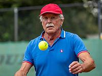 Hilversum, The Netherlands,  August 18, 2020,  Tulip Tennis Center, NKS, National Senior Championships, Men's single 70+ ,   Onno van der Spoel (NED) <br /> Photo: www.tennisimages.com/Henk Koster