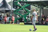 LAKE BUENA VISTA, FL - JULY 13: Michael Bradley #4 of Toronto FC dribbles the ball during a game between D.C. United and Toronto FC at Wide World of Sports on July 13, 2020 in Lake Buena Vista, Florida.