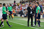 Atletico de Madrid´s coach Diego Pablo `Cholo´Simeone being expulsed during 2014 Supercopa de España `Spain Supercup´ second leg match at Vicente Calderon stadium. August 22, 2014. (ALTERPHOTOS/Victor Blanco)
