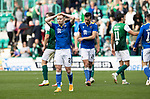 Hibs v St Johnstone…22.09.21  Easter Road.    SPFL<br />A disappointed Ali Crawford at full time<br />Picture by Graeme Hart.<br />Copyright Perthshire Picture Agency<br />Tel: 01738 623350  Mobile: 07990 594431