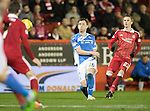 Aberdeen v St Johnstone…10.12.16     Pittodrie    SPFL<br />Liam Craig shoots at goal<br />Picture by Graeme Hart.<br />Copyright Perthshire Picture Agency<br />Tel: 01738 623350  Mobile: 07990 594431