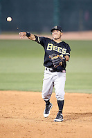 Alexi Amarista #4 of the Salt Lee Bees plays in a Pacific Coast League game against the Tucson Padres  at Kino Stadium on April 17, 2011  in Tucson, Arizona. .Photo by:  Bill Mitchell/Four Seam Images.