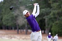 PINEHURST, NC - MARCH 02: Walker Crosby of Augusta University tees off on the second hole at Pinehurst No. 2 on March 02, 2021 in Pinehurst, North Carolina.