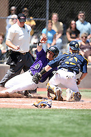 May 15, 2009:  Stephen Smith of Niagara University slides into home during a game at Demske Sports Complex in Buffalo, NY.  Photo by:  Mike Janes/Four Seam Images