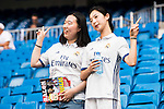 Real Madrid's asian supporters during a match of La Liga Santander at Santiago Bernabeu Stadium in Madrid. August 27, Spain. 2016. (ALTERPHOTOS/BorjaB.Hojas)