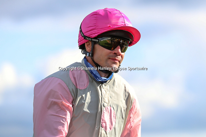 September 11, 2021: Jockey Rohan Whelan rider of #2 Rebellito (FR) prior to the Petingo Handicap on the turf on Irish Champions Weekend at Leopardstown Racecourse in Dublin, Ireland on September 11th, 2021. Shamela Hanley/Eclipse Sportswire/CSM