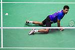 Sameer Verma of India competes against Angus Ng Ka Long of Hong Kong during their Men's Singles Final of YONEX-SUNRISE Hong Kong Open Badminton Championships 2016 at the Hong Kong Coliseum on 27 November 2016 in Hong Kong, China. Photo by Marcio Rodrigo Machado / Power Sport Images