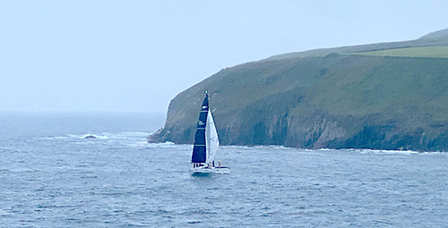 Conor Doyle's Freya crosses the Dingle finish at 0531 this morning