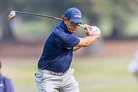 11th September 2020, Napa, California, USA;  Phil Mickelson of the United States in his backswing during the second round of the Safeway Open PGA tournament on September 11, 2020 at Silverado Country Club in Napa, CA.
