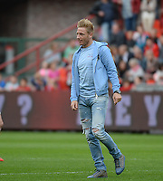 20150508 - LIEGE , BELGIUM : Standard's Jonathan Legear pictured during the soccer match between the women teams of Standard de Liege Femina and PSV Eindhoven , on the 26th and last matchday of the BeNeleague competition Friday 8 th May 2015 in Stade Maurice Dufrasne in Liege . PHOTO DAVID CATRY