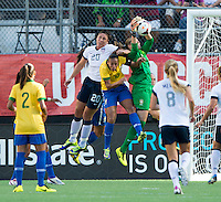 Abby Wambach, Thais, Rosana.  The USWNT defeated Brazil, 4-1, at an international friendly at the Florida Citrus Bowl in Orlando, FL.