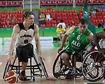 Liam Hickey, Rio 2016 - Wheelchair Basketball // Basketball en fauteuil roulant.<br /> Canada vs. Algeria in men's Wheelchair Basketball // Le Canada contre l'Algérie en basketball en fauteuil roulant masculin . 14/09/2016.