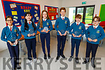 The Education Centre, presenting a plaque on Monday to Scoil Eoin Balloonagh NS students, as they made it to the final of the debating competition, but it was cancelled due to Covid. <br /> L to r: Brianna Beqaj, Cyrena Ong, Hazel O'Donoghue, Andrew Durkin, Tom Gleasure and Sean Barry