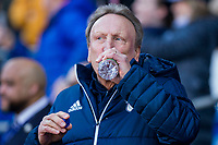 Cardiff City manager Neil Warnock ahead of the Sky Bet Championship match between Cardiff City and Middlesbrough at the Cardiff City Stadium, Cardiff, Wales on 17 February 2018. Photo by Mark Hawkins / PRiME Media Images.