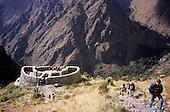 Runcuracay, Inca Trail, Peru. Ruined circular Inca guard post.