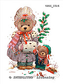 GIORDANO, CHRISTMAS ANIMALS, WEIHNACHTEN TIERE, NAVIDAD ANIMALES, Teddies, paintings+++++,USGI1516,#XA#