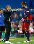 FC Barcelona's coach Luis Enrique Martinez and Gerard Pique during Spanish Kings Cup Final match. May 22,2016. (ALTERPHOTOS/Acero)