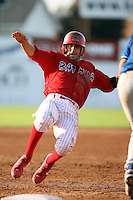 August 7 2008:  Colt Sedbrook of the Batavia Muckdogs, Class-A affiliate of the St. Louis Cardinals, during a game at Dwyer Stadium in Batavia, NY.  Photo by:  Mike Janes/Four Seam Images