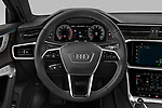 Car pictures of steering wheel view of a 2021 Audi A6-Allroad Premium-Plus 5 Door Wagon Steering Wheel