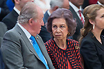 King Juan Carlos I of Spain talking with Queen Sofia of Spain attends to National Sport Awards 2016 at El Pardo Palace in Madrid , Spain. February 19, 2018. (ALTERPHOTOS/Borja B.Hojas)