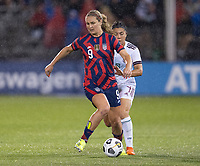 EAST HARTFORD, CT - JULY 1: Lindsey Horan #9 of the USWNT passes the ball during a game between Mexico and USWNT at Rentschler Field on July 1, 2021 in East Hartford, Connecticut.