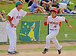 14 August 10: Mexico's Humberto Moreno rounds third in the Cal Ripken Babe Ruth World Series 12U Majors in Aberdeen, Maryland