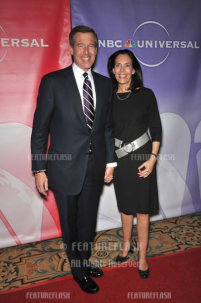 NBC Nightly News anchor Brian Williams & wife at NBC Universal's Winter 2010 Press Tour cocktail party at the Langham Huntington Hotel, Pasadena..January 10, 2010  Pasadena, CA.Picture: Paul Smith / Featureflash