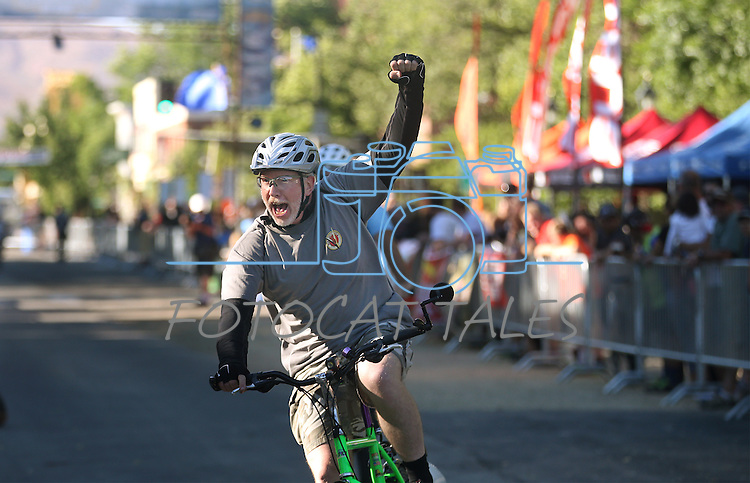 Riders participate in the Epic Rides Carson City Off-Road Klunker Crit in Carson City, Nev., on Friday, June 17, 2016.<br />Photo by Cathleen Allison