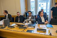 """2. Sitzungstag des Berliner """"Amri-Untersuchungsausschuss"""".<br /> Am Freitag den 8. September 2017 fand die 2. Sitzung des sogenannte """"Amri-Untersuchungsausschuss des Berliner Abgeordnetenhaus. Statt. Der 1. Untersuchungsausschuss der 18. Wahlperiode will versuchen die diversen Unklarheiten im Fall des Weihnachtsmarkt-Attentaeters zu aufzuklaeren.<br /> Im Bild: Die Vertreter der FDP. Rechts: Marcel Luthe, Obmann und Sprecher der FDP im Ausschuss.<br /> 2.vl. Der ehenmalige Polizeifuehrer Michael Knape. Er arbeitet als externer Mitarbeiter und Experte fuer die FDP im Ausschuss.<br /> 8.9.2017, Berlin<br /> Copyright: Christian-Ditsch.de<br /> [Inhaltsveraendernde Manipulation des Fotos nur nach ausdruecklicher Genehmigung des Fotografen. Vereinbarungen ueber Abtretung von Persoenlichkeitsrechten/Model Release der abgebildeten Person/Personen liegen nicht vor. NO MODEL RELEASE! Nur fuer Redaktionelle Zwecke. Don't publish without copyright Christian-Ditsch.de, Veroeffentlichung nur mit Fotografennennung, sowie gegen Honorar, MwSt. und Beleg. Konto: I N G - D i B a, IBAN DE58500105175400192269, BIC INGDDEFFXXX, Kontakt: post@christian-ditsch.de<br /> Bei der Bearbeitung der Dateiinformationen darf die Urheberkennzeichnung in den EXIF- und  IPTC-Daten nicht entfernt werden, diese sind in digitalen Medien nach §95c UrhG rechtlich geschuetzt. Der Urhebervermerk wird gemaess §13 UrhG verlangt.]"""