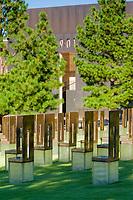 Oklahoma City, Oklahoma, USA.  OKC National Memorial, Empty Chairs and Gate.