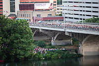 Each evening around sunset the Congress Avenue bats emerge like a black cloud from the crevices of the bridge. Covering the countryside in search of food, it is estimated that the bats consume from 10,000 to 30,000 pounds of insects.