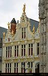 Civil Registry Renaissance Facade 1543, Burg Square, Bruges, Brugge, Belgium